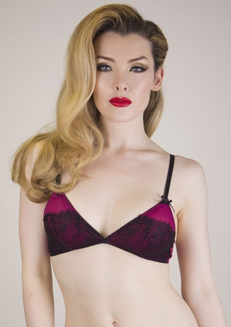 Soutien-gorge triangle lie de vin Margarita Playful Promises
