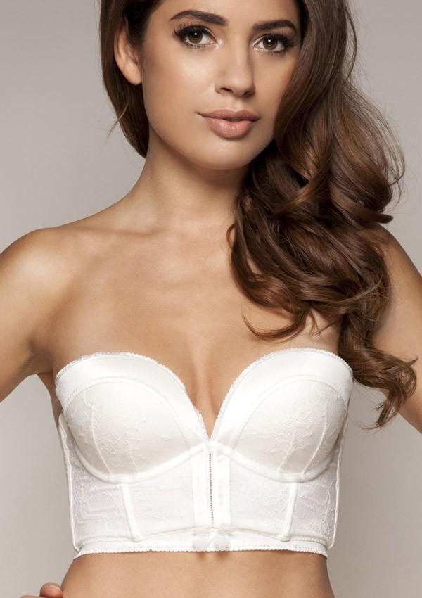 389e9d0b756d Ivory white wedding bustier bra Retrolution by Gossard