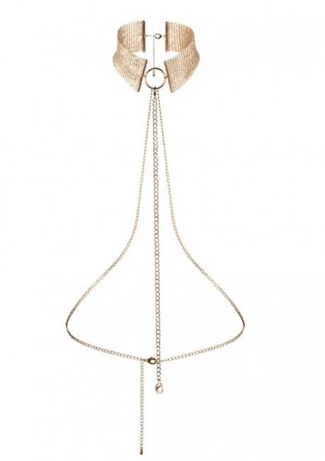 Collier harnais désir or Désir métallique Bijoux Indiscrets