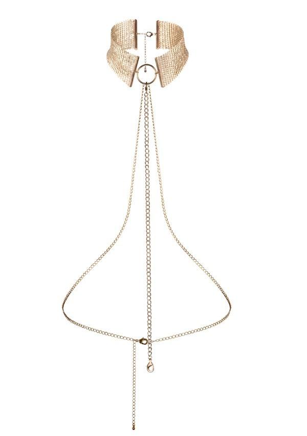 Collier harnais désir or Désir métallique - Bijoux Indiscrets