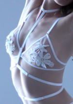 Nude lace triangle braFlash You And Me