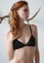 Black lace triangle braFlash You And Me