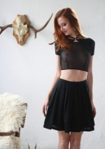 Crop top choker noir Flash You And Me