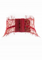 Jardin Impérial red harness for thong Jardin Impérial Maison Close
