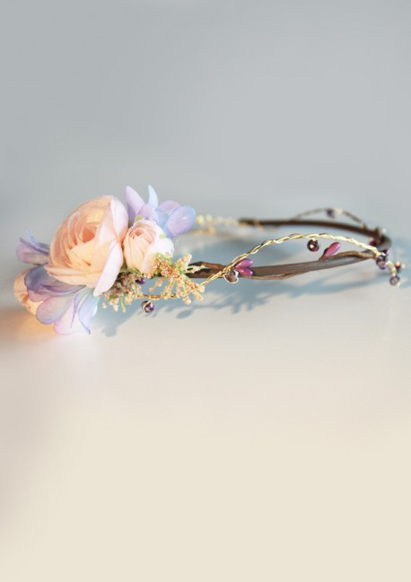 Couronne bijou rose et violet - Sa Majesté