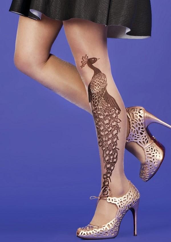 Tattoo Peacock tights Fantaisie - Mirey