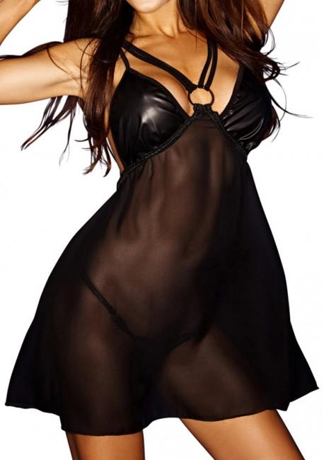 Bad O transparent dressGood girls bad, bad girls worseNoir Handmade