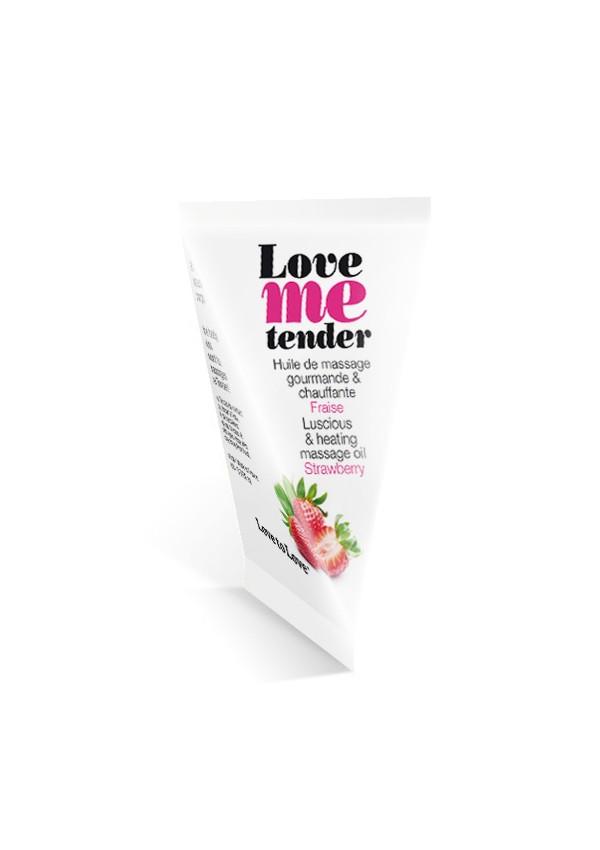 Love Me Tender strawberry massage oil in cartons Love me tender - Love to Love