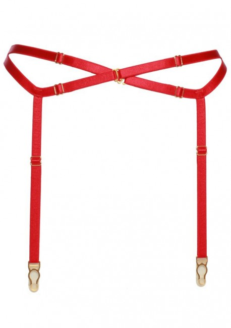 Bright red suspender belt - Flash You And Me