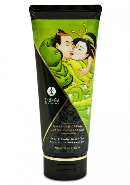 Pear & green tea delectable massage cream - Shunga