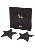 Black star glitter nipple covers Flash Bijoux Indiscrets