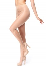 Beige open seam pantyhose Miss O