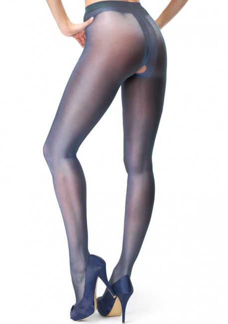 Open dark blue pantyhose - Miss O