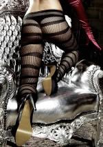 Collant noir résille à rayuresLes originauxBaci
