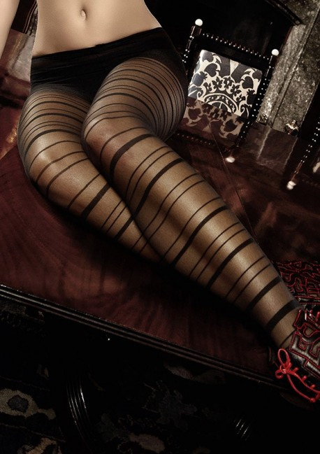 Black striped tights Les originaux Baci