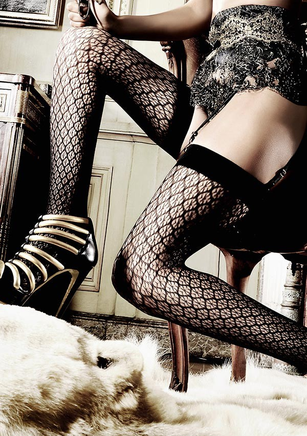 Black elaborate stockings Les originaux - Baci