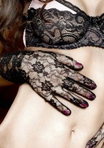 Black foral lace gloves Have fun Princess Baci
